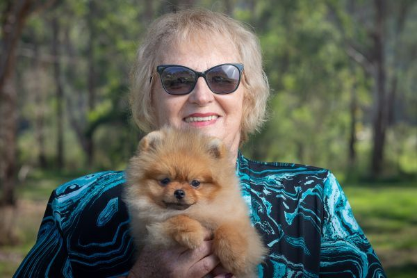 Denise Leo and Pomeranian puppy